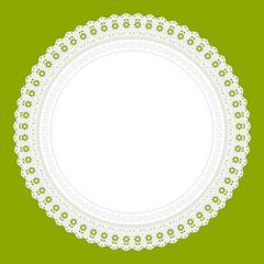 Ornament Serviette Ajour Hintergrund  grün