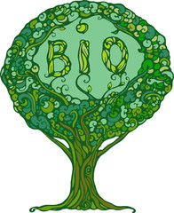 image of tree with word bio