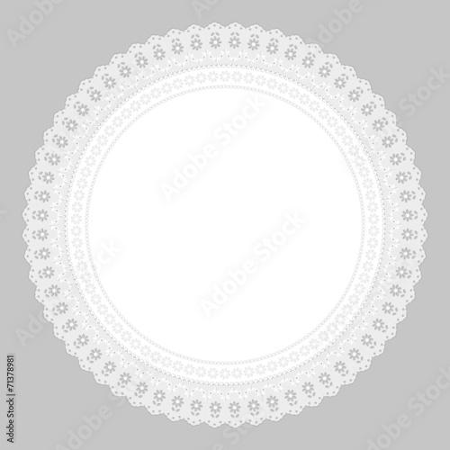 Ornament Serviette Ajour Heirat weiß Hintergrund  grau