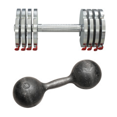 a dumbbell under the light background