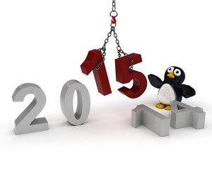 penguin Bringing in the New Year