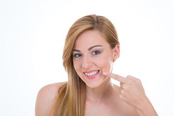 lady with new braces