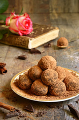 Homemade chocolate truffles.