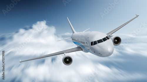 Fototapeta Airplane speed