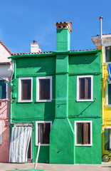 Classical colored house in the Venice lagoon