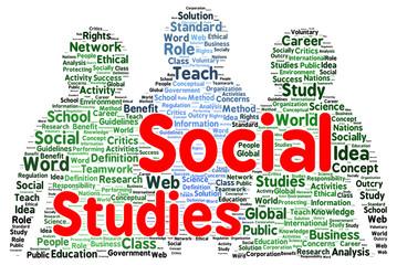 Social studies word cloud shape