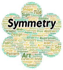 Symmetry word cloud shape