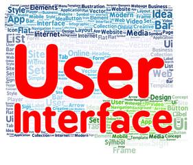 User interface word cloud shape