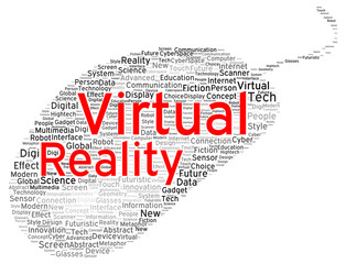 Virtual reality word cloud shape