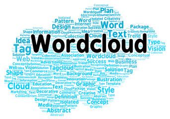 Word cloud shape