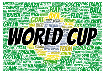 World cup word cloud shape