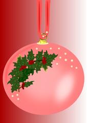 Pallina di Natale rosa