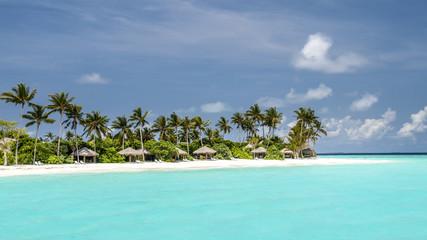 view of the coast of irufushi island,  maldives