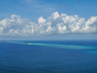 aerial view of island in maldives