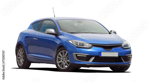 canvas print picture blue car