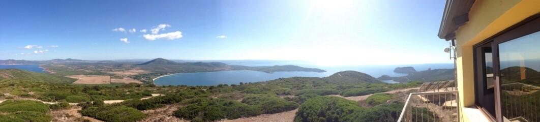 view from monte timidone, alghero, sardinia, italy