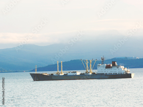 canvas print picture The cargoship