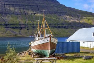 Old fishing boat in Iceland