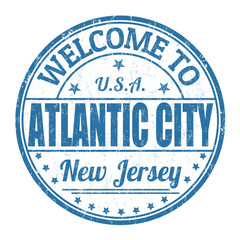 Welcome to Atlantic City stamp