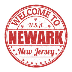 Welcome to Newark  stamp