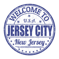 Welcome to Jersey City stamp