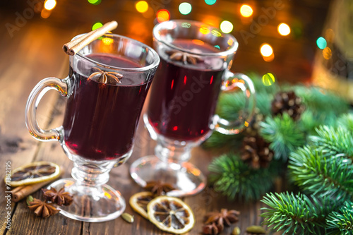 canvas print picture Christmas mulled wine