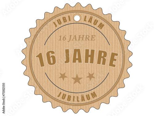 Foto op Plexiglas Retro je16 JubiläumsEtikett 16 - vintagedesign - 16 Jahre - g1916