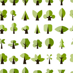 Green trees, seamless pattern for your design
