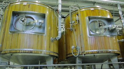 production of live beer on brewing