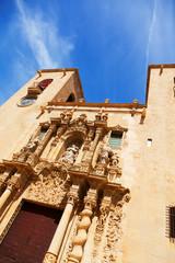 Close-up of Basilica de Santa Maria. Alicante
