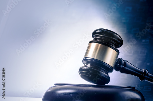 Legal law concept image gavel  screen display - 71382930