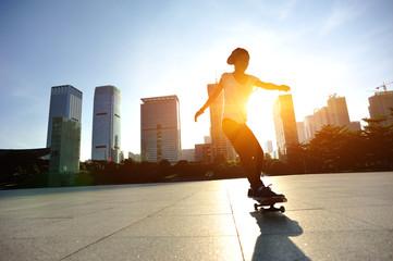 skateboarding on sunrise city