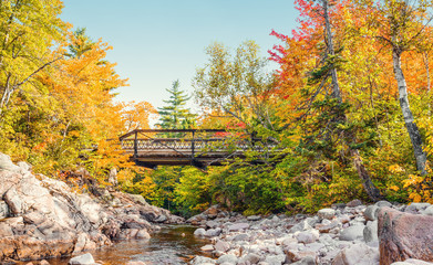 Bridge to Mary Ann Falls in the fall