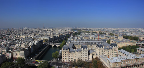 Panorama Of Paris, France