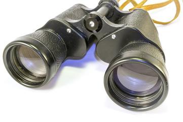 Old binoculars. Color image