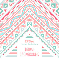 Tribal ethnic corner pattern. Vector illustration