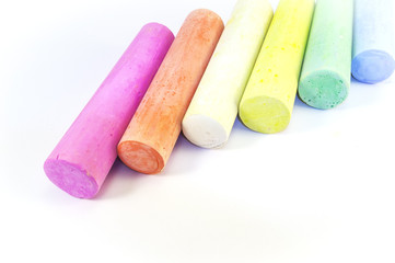 Colorful group of chalks. Color image