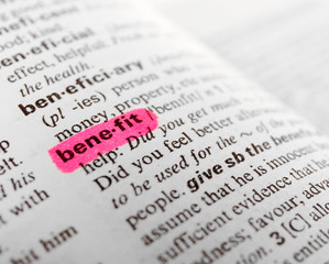 Word highlighted with pink marker