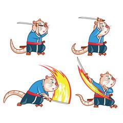 Samurai Mouse Attack Sprite