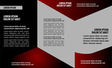 Vector trifold flyer template design poster