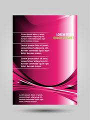Vector pink brochure flyer template design