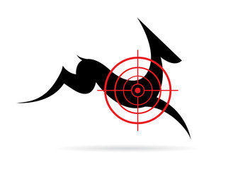 Vector image of a deer target on a white background.