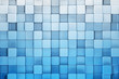 canvas print picture - Blue blocks abstract background