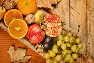 Autum fruit still life