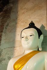 Buddha at Wat Nang Pluem temple, Ayutthaya Historical Park, Thai