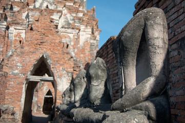 Buddha in Wat Chaiwatthanaram temple, Ayutthaya Historical Park,
