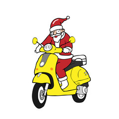 Christmas Santa scooter