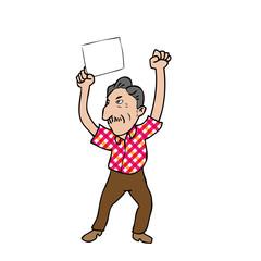 Old man blank sheet