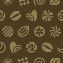 Seamless pattern of  chocolates