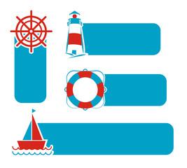 Vector of Nautical and marine Borad